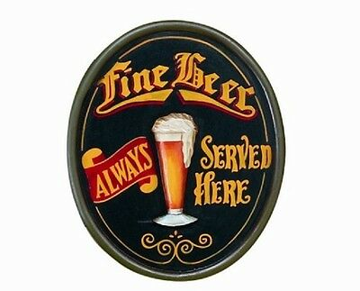Wooden Fine Beer Pub Sign 3D Art with FREE Shipping