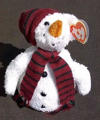 TY Chillings the Snowman Beanie Baby Toy Attic Treasures Collection with Tag
