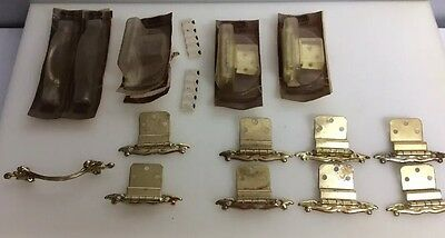 Vintage Craftsman Provincial 2 New Pulls & 6 New Hinges &  6 Used Hinges