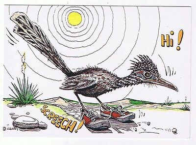 The Road Runner  With Running Shoes By The Laughin Place - Postcard # 25467