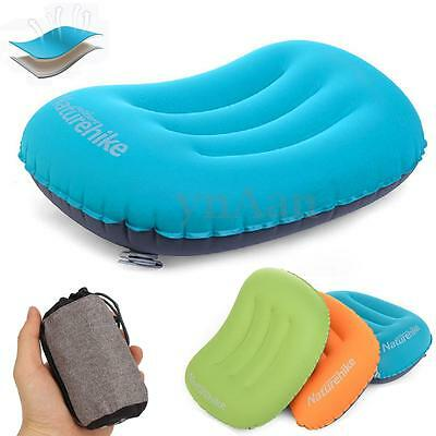 Ultralight Mini Inflatable Air Pillow Travel Bed Cushion Camp Hiking Neck Rest