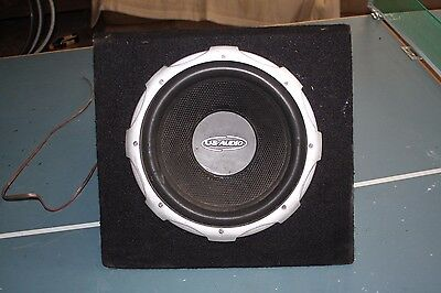 "US Audio 12"" 600W Subwoofer + Carpeted Enclosure Car System Ultimate Sound"