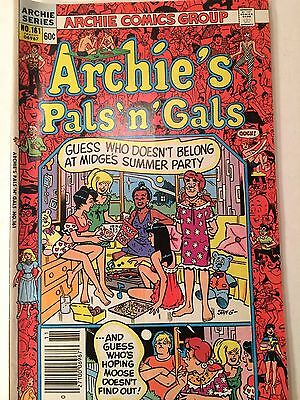 Archie's Pals 'n Gals #161 1982 3Rd App & 1St Solo Cheryl Blossom