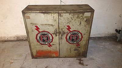 Genuine P&D Tune Up Ignition Vintage Auto Parts Service Station Wall Cabinet