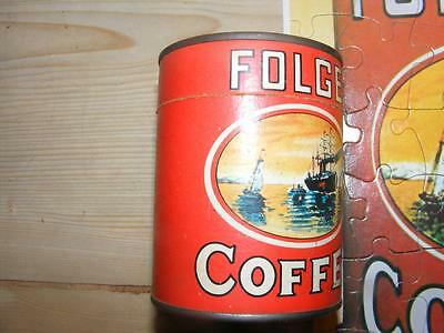 Folger's Coffee Can Jigsaw Puzzle Complete Vintage Promotional Item
