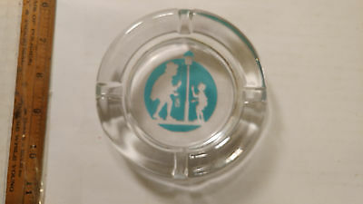 Great Vintage Howard Johnson's Restaurant Glass Ashtray NOS Solid Piece!