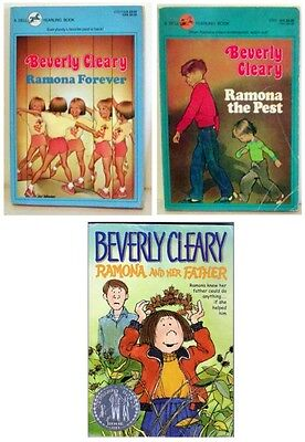 Lot Of 3 - Beverly Cleary Children's  Paperback Books
