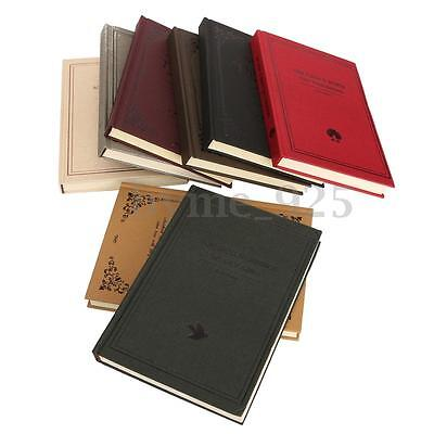 Retro Classic Vintage Blank 256 Pages Journal Planner Diary Notebook Hard Cover