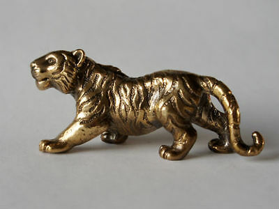 Small Solid Bronze Tiger miniature by N.Fedosov.
