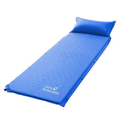 Camp Solutions Lightweight Self-Inflating Air Sleeping Pad Blue