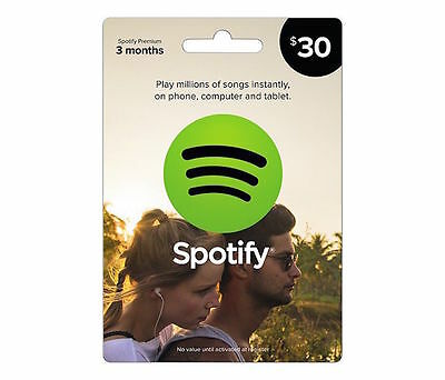 3 Month US Spotify Premium Subscription Gift Card INSTANT DELIVERY