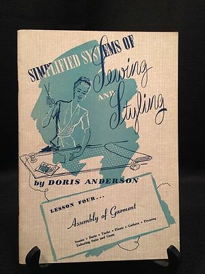 Vintage Simplified Systems of Sewing and Styling Books 1940's Dressmaking