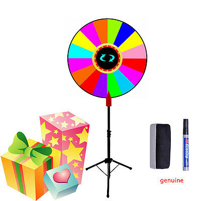 "SALE 24"" Editable Dry Erase Color Prize Wheel of Fortune Spinning Game Tradeshow"
