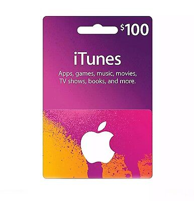 $100 Canadian iTunes Card (delivered To Home Address)