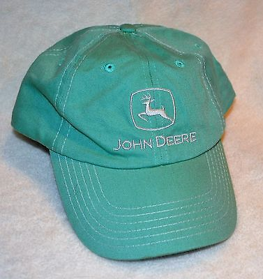 Green JOHN DEERE Embroidered BASEBALL CAP/HAT Cotton ADULT Adjustable One Size