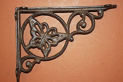"(16)Pcs,, Butterfly Garden Decor, Shelf Brackets, 9""cast Iron, Garden Patio,b-16"