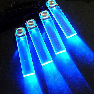 4in1 Auto Inside Foot Lamp Blue Source LED Light Atmosphere Styling Car Decor