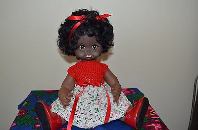 African  Vinyl/Plastic Doll. Marked on her Head 3497.