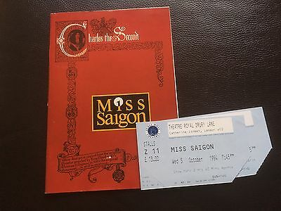 Miss Saigon Theatre Programme & Used Ticket Collectable Musical Production