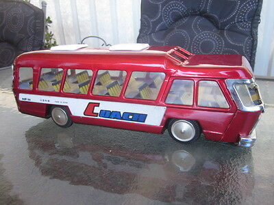VINTAGE 70,s TIN TOY BUS/COACH MADE IN CHINA
