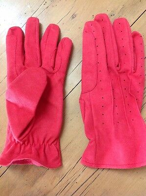Size L Kids Riding Gloves Brand New Never Worn Red