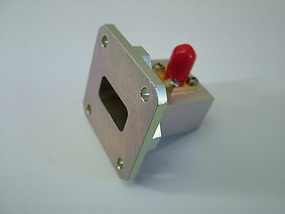 WR75 Waveguide Adapter Transition to SMA M620P Microwave Adaptor 10 - 15GHz