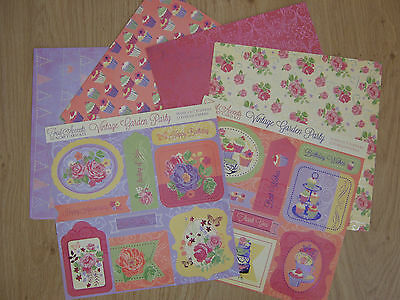 BNIP Vintage Garden Party Luxury card kit with foil accents