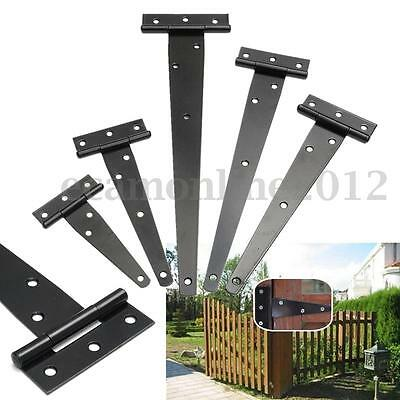4''/6''/8''/10''/12'' Iron Triangle T Strap Hinges Shed Door Garden Gate Windows