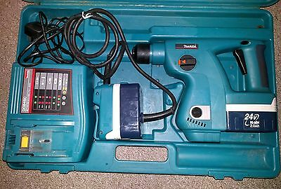 Makita 24 volt SDS battery drill BHR200 and accessories
