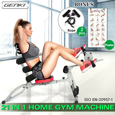 21 in 1 Smart Core Body Gym Machine AB Workout System Fitness Bicycle Trainer BK