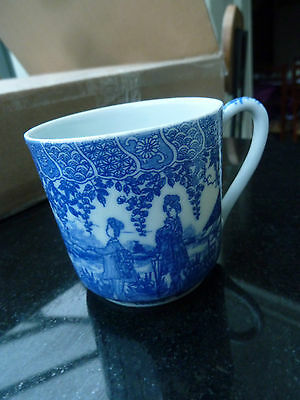 Antique Blue Willow China Coffee Can unmarked 6cm Superb!