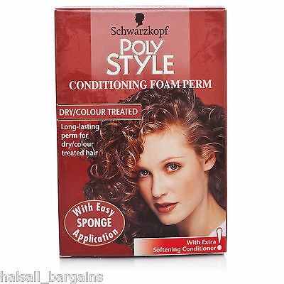 4 x Schwarzkopf Poly Style Conditioning Foam Perm For Dry/Color Treated Hair