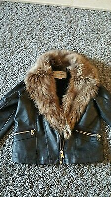 Girls river island leather jacket age 10