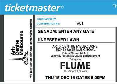4 x Flume GA Tickets - Melbourne 15th of November