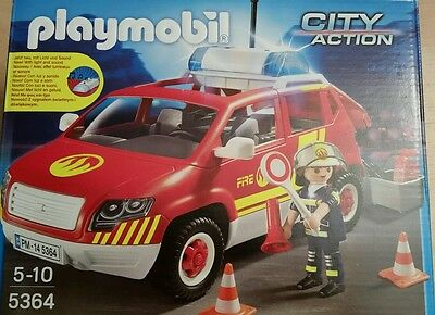 playmobil 5364 feuerwehrauto brandmeisterauto neu ovp eur 27 99 picclick de. Black Bedroom Furniture Sets. Home Design Ideas