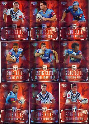 2016  NRL ESP Elite Ruby MOJO team set Gold Coast TITANS 10/40