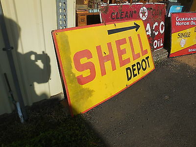 A large original Shell enamel sign - From St George west qld
