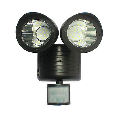 22LED Solar Power Motion Sensor Light Induction Lamp Double Heads