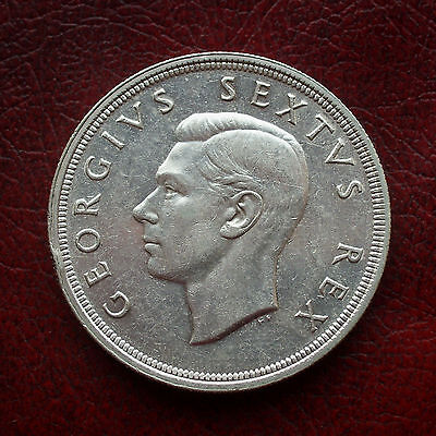 South Africa 1948 silver 5 shillings