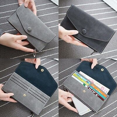New Women's Fashion Leather Wallet Card Holder Coin Purse Clutch Bifold Handbag