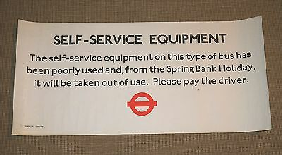 LONDON TRANSPORT 1979 POSTER : SELF SERVICE EQUIPMENT. Ticket machine withdrawal