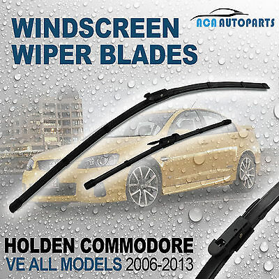 Frameless Windscreen Wiper Blade Holden Commodore VE All Models 2006 - 2013Pair