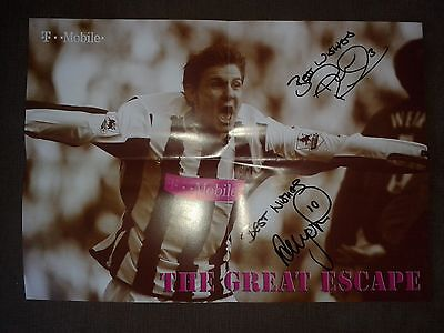 West Brom WBA THE GREAT ESCAPE hand signed poster Paul Robinson Andy Johnson