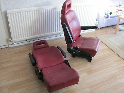 Pair of single seats - With Seat Belt mtg. points ( van Camper Conversion)