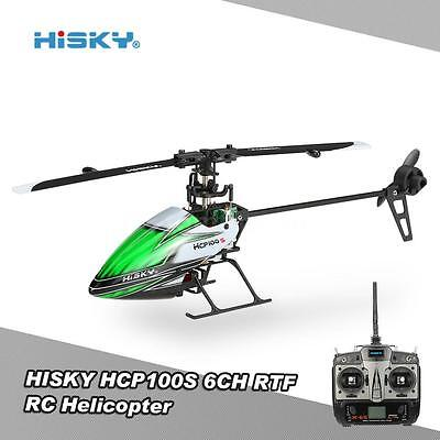 HISKY HCP100S 2.4G 3D 6CH Flybarless RC Helicopter RTF Drone w/Double Motor S2F8