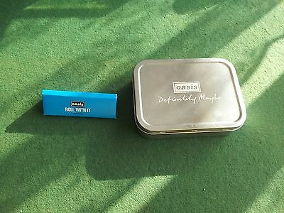 oasis promo official tobacco tin with promo papers