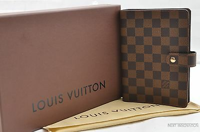 Authentic Louis Vuitton Damier Agenda MM Day Planner Cover R20701 LV 25929