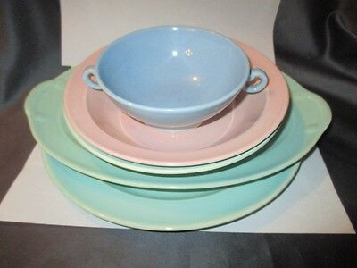 Mid Century Tableware Luray Lu-Ray Pastels Lot Platter Plate 3 Bowls