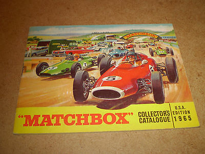 Matchbox Toy Catalogue 1965 Usa Edition Excellent Condition For Age