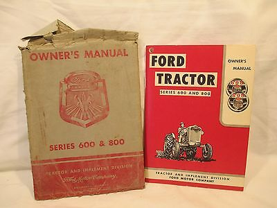 Ford 600 And 800 Tractor Owners Manual